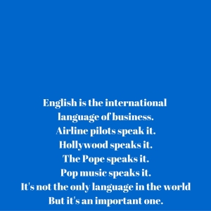 English ad