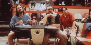 """Jeff Bridges, left, John Goodman, center, and Steve Buscemi appear in a scene from the motion picture """"The Big Lebowski."""" (AP Photo)"""