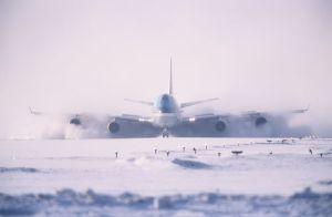 plane snow